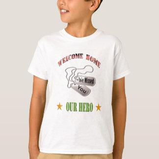 Casa bem-vinda nossa camisa do herói