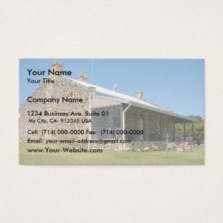 Casa bonita da herdade da alegria da montagem cartão de visitas