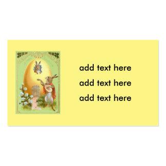 Casa colorida coelhinho da Páscoa do ovo Cartão De Visita