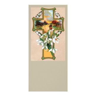 Casa da equitação na cruz do por do sol 10.16 x 22.86cm panfleto