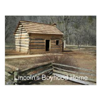 Casa da infância de Lincoln, angra do botão, KY Cartão Postal
