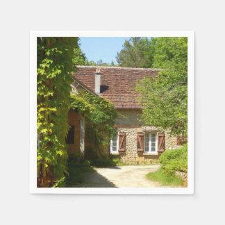 Casa da quinta francesa e guardanapo de papel de