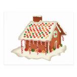 Casa de campo do pão-de-espécie dos doces cartao postal