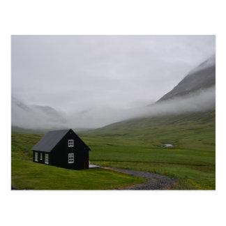 Casa de campo islandêsa cartão postal