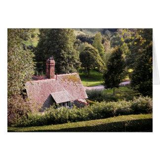 Casa de campo nos jardins - bloco do cartão de