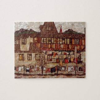 Casa de Egon Schiele- com lavanderia de secagem Quebra-cabeças