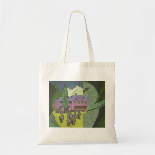 Casa de Ernst Kirchner- Violett, montanha nevado Bolsa Para Compras