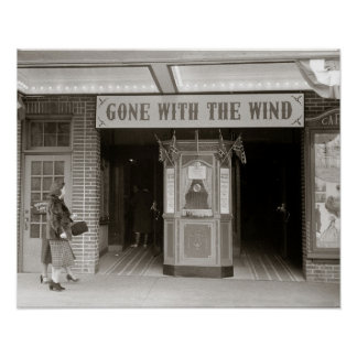 Casa de filme do sul, 1940. Foto do vintage Poster
