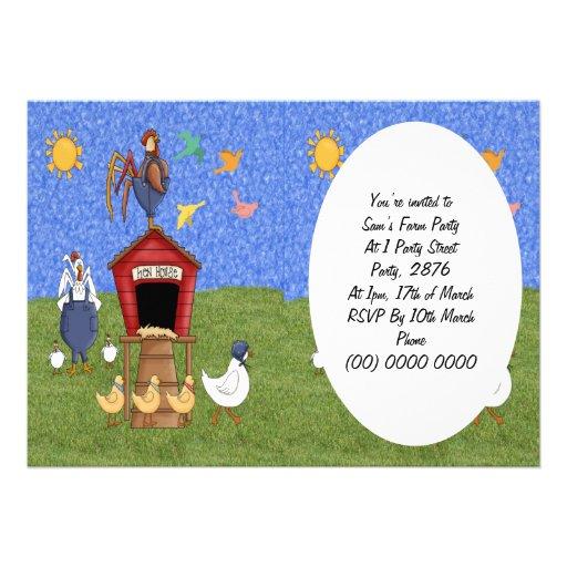 Casa de galinha convites