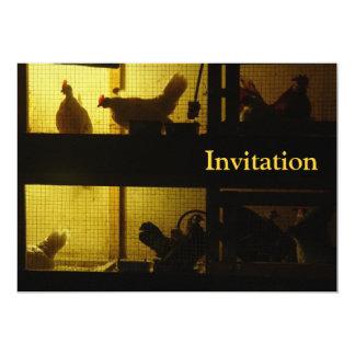 Casa de galinha convite personalizados