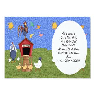 Casa de galinha convite 12.7 x 17.78cm