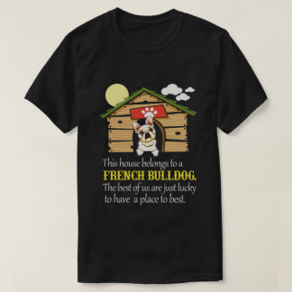 Casa do buldogue francês tshirt