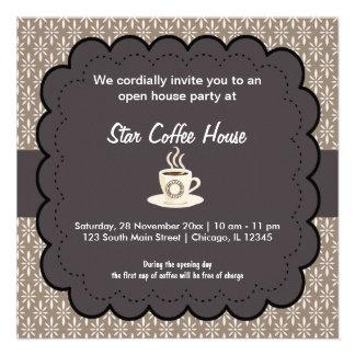 Casa do café da grande inauguração convite