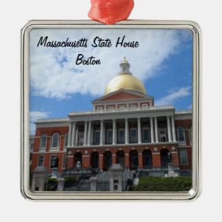 Casa do estado de Massachusetts, Boston Ornamento Quadrado Cor Prata