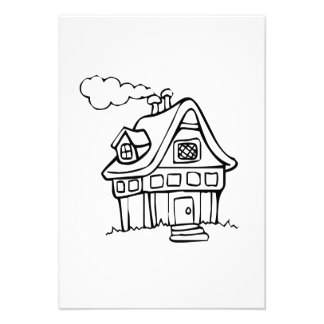 Casa dos desenhos animados convites personalizados