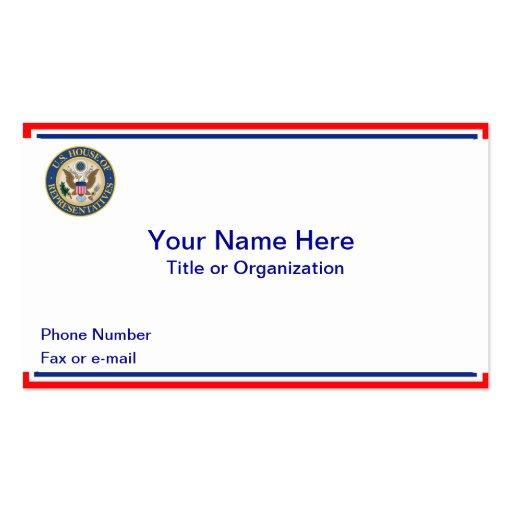 Casa dos E.U. do cartão de visita dos representant