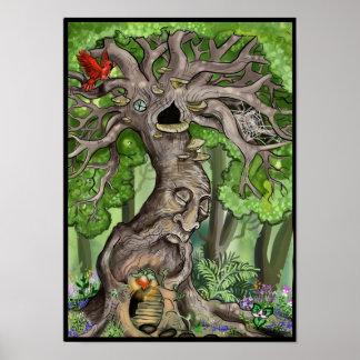 Casa feericamente da árvore pôster