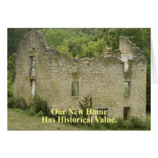 Casa histórica 2 do valor - mudança de endereço cartão comemorativo