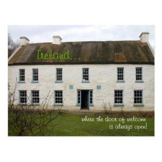 Casa irlandesa: Nossa porta é sempre cartão aberto