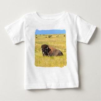 Casa no t-shirt da escala camiseta para bebê