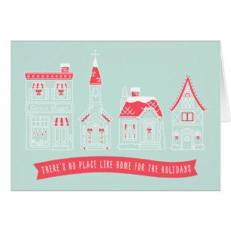 Casa para o cartão de Natal da vila dos feriados