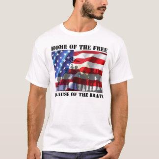 Casa patriótica do livre devido ao bravo camiseta