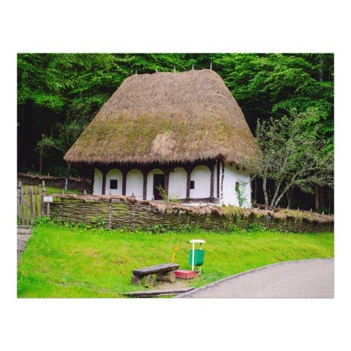 Casa rural velha modelos de panfleto