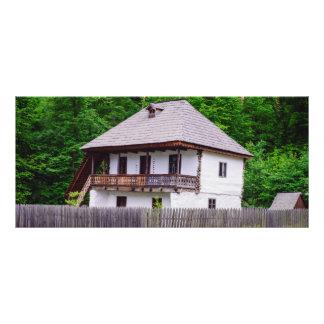 Casa rural velha planfeto informativo colorido