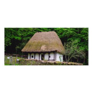 Casa rural velha panfletos informativos personalizados