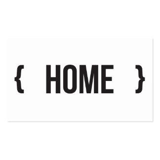 Casa - suportada - preto e branco cartão de visita