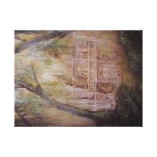 Casa velha na arte da parede das canvas das