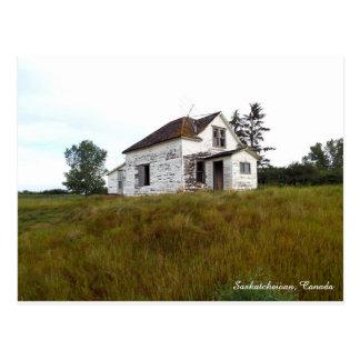 Casa velha no cartão de Saskatchewan