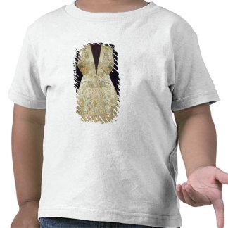 Casaco da caça do cetim bordado com as sedas tshirts