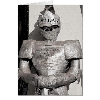 Casaco do cartão do dia dos pais da armadura