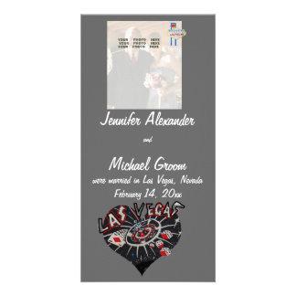 Casado no anúncio da foto de Las Vegas Cartão Com Fotos