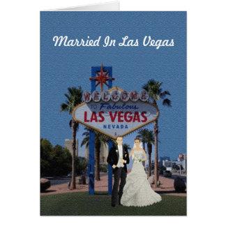 Casado no cartão de Las Vegas
