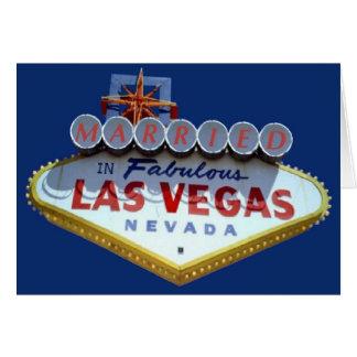 CASADO no cartão fabuloso de Las Vegas