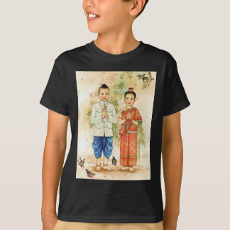 Casal asiático doce camiseta