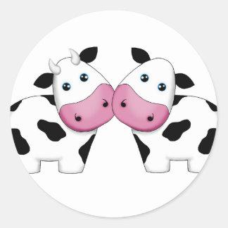 Casal bonito da vaca adesivo