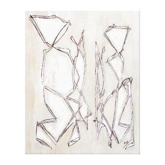 Casal branco preto MC Belkadi da arte abstracta Impressão Em Tela