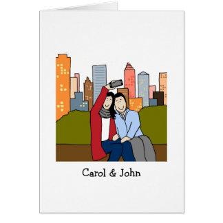 Casal customizável da foto do cartão