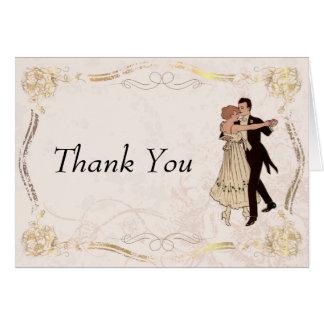 Casal da dança do vintage dos anos 20 dos cartões