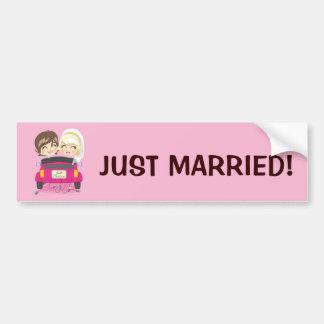 Casal de recem casados adesivo para carro