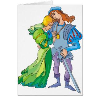 Casal do conto de fadas cartão comemorativo