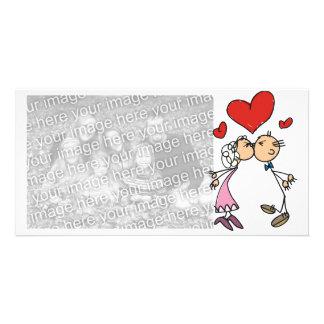 Casal do dia dos namorados dos cartões de fotos cartao com foto personalizado