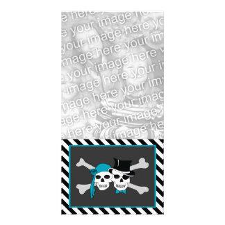casal do pirata cartão com foto