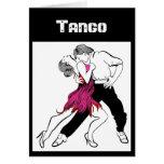 Casal do tango cartão comemorativo
