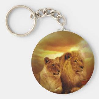 Casal dos leões chaveiro