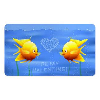 Casal dos peixes do ouro modelos cartões de visita