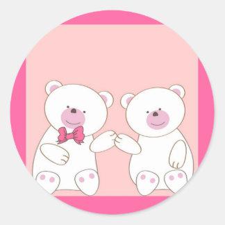 Casal dos ursos adesivo